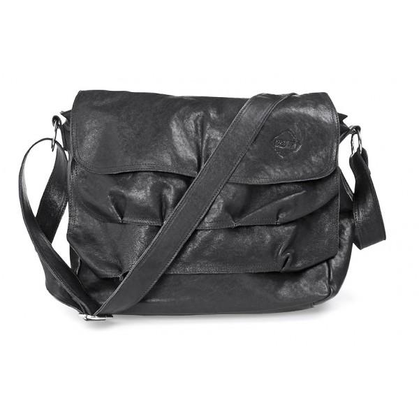 Axelremsväska för henne. New Black Leather.