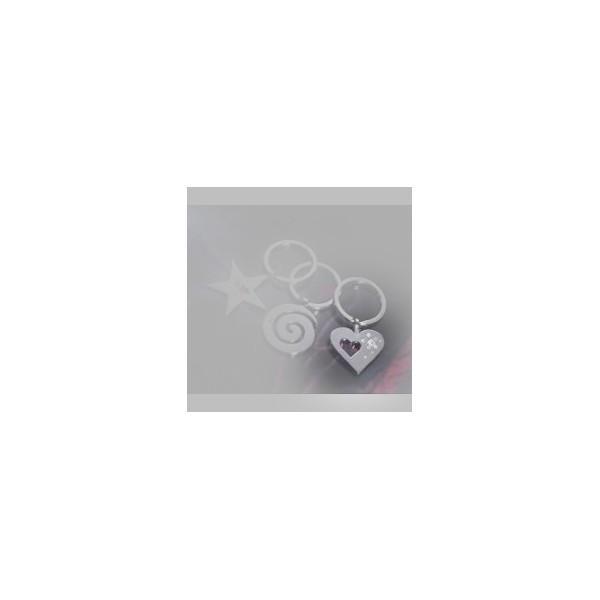 Nyckelring med swarovski kristaller, Best Friends Hjärtform