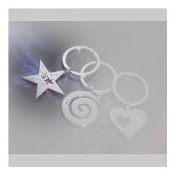 Nyckelring från Troika med Swarovskikristaller, Girls Best Friends, Stjärnformad.