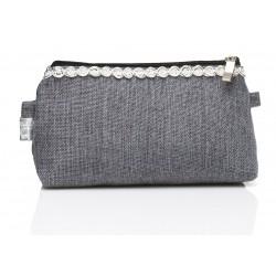 Grey Linen Line - Make Up - Sminkväska i grått tyg