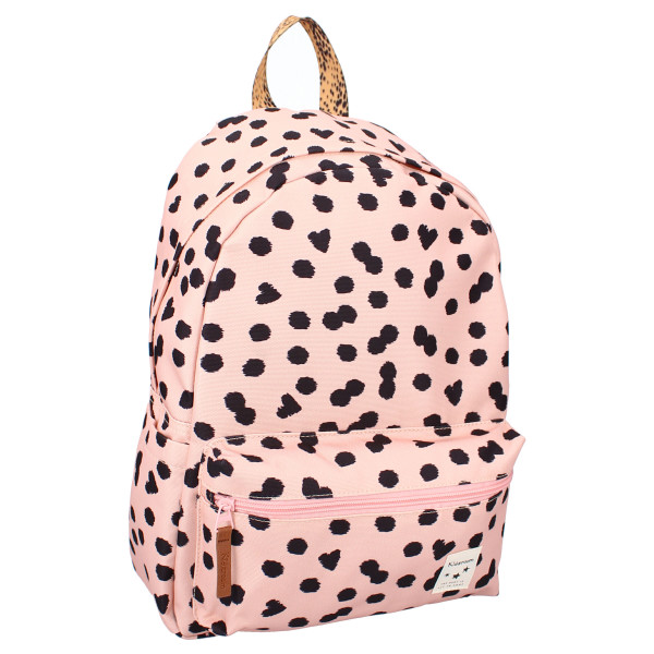 Ryggsäck för barn | Skolväska av återvunnet material | Lucky Me från Kidzroom i rosa färg.